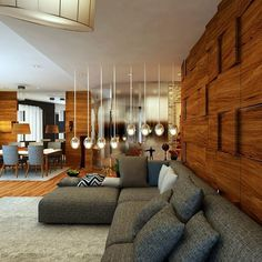Need to spice up your #livingroom? Chunky #wood #panelling looks incredible. The uneven finish adds a distinctly #contemporary vibe! #Design by GHKN ERDGN Architecture Office. More ideas for your #home and #interior await you on #homify!  #moderndesign #moderninterior #modernliving #modernlivingroom #interiordesign #elegantlivingroom #timber #wooden #wallart #walldecoration