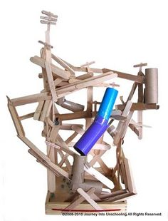 We've made marble runs in the after-school program and the kids loved them. They get very excited, though. It's hard to calm them down. laying with their marble run