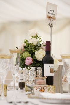 Reception champagne table names
