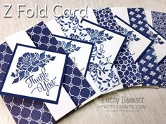 Learn how to make a Z Fold Card featuring the Floral Boutique paper and Floral…
