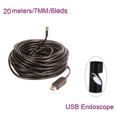 ==> [Free Shipping] Buy Best 7MM 20 Meters 480P USB Industry Endoscope 6 LEDs USB Waterproof Endoscope Borescope Inspection Camera tube snake usb endoscopio Online with LOWEST Price | 32642882066