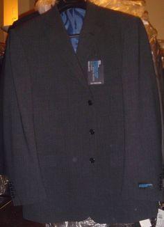 Marks & Spencer Navy Blue Pinstripe Blazer Jacket Size 44 M Reg Fit Washable NWT #MarksSpencer #TwoButton