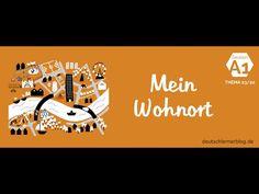 Deutsch lernen A1 - Thema: Wohnort und Stadt - Wortschatz Stadt
