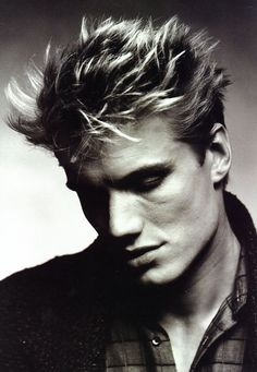 Dolph Lundgren is actually still looking pretty good, but when he was young, he was pretty!