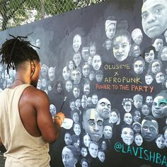 Activism in action! #AFROPUNK and @artforamnestyus artists are creating and…