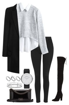"""""""Untitled #1173"""" by hernandezjenni ❤ liked on Polyvore featuring Topshop, Anthony Vaccarello, Stuart Weitzman, Chanel, Marc Jacobs, Blue Nile, Humble Chic and Pilgrim"""
