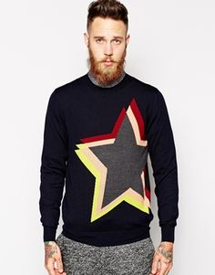 PS by Paul Smith Jumper with Star Intarsia