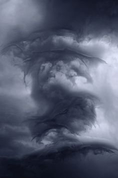 THE CLOUDS by Kilian Schönberger, via Behance This is awesome...the clouds look like a dragon