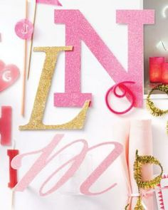 Monogram Party: Sparkle Script Letters How-To