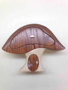 woodworkingal.       Mushroom two drawer bandsaw box $ 65.00