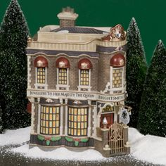 "Department 56: Products - ""Brightsmith & Sons, Queen's Jeweller's"" - View Lighted Buildings"