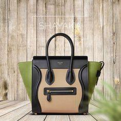 641d2b8d4e0e Celine Multicolor Baby Grained Calfskin Nubuck Micro Luggage Bag