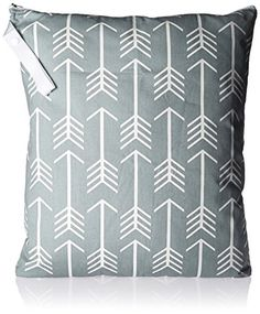 Diapering Baby Planet Wise Large Hanging Wetbag Mint White Chevron Utmost In Convenience