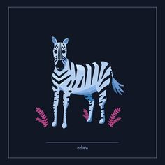Zebra ©Justyna Krug Digital Illustration, Animation, Illustrations, Projects, Movie Posters, Movies, Animals, Art, Log Projects