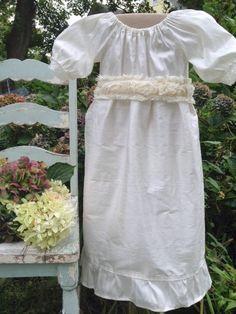 Sale heirloom  Silk off white Flower Girls Wedding by chachalouise, $65.00