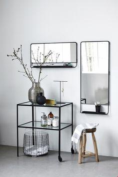 House Doctor Chic Spiegel Zwart - 45 x 110 cm | Living.nl