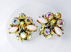 Vintage Earrings Flower Cluster With by SunburyVintageStore
