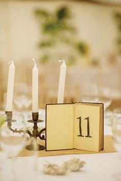 RUSTIC | VINTAGE | MARQUEE | BACKYARD WEDDING Alternative table numbers using old books. Handmade and for hire from The Wedding Festival.
