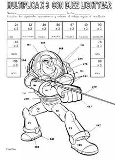 Fichas para colorear y jugar con las tablas de multiplicar