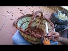 La chiusura di un cesto con treccia a 2 capi - YouTube