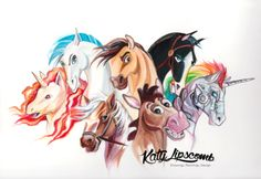 Fantasy Watercolor Paintings and Colored Pencils Drawings. See more art and information about Katy Lipscomb, Press the Image. Disney Drawings, Cartoon Drawings, Cute Drawings, Drawing Sketches, Drawing Disney, Drawing Ideas, Pencil Drawings Of Animals, Horse Drawings, Disney Horses