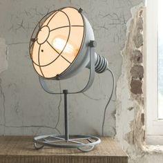 Bordlampe, beton farvet metal