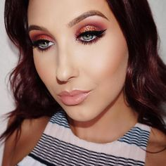 "J A C L Y N on Instagram: ""Makeup Tutorial on this look will be up tonight! ❤️ Using @mannymua733 @makeupgeekcosmetics palette!"""