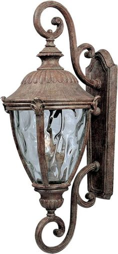 "0-019152>27""""h Morrow Bay Die-Cast Aluminum 3-Light Outdoor Wall Mount Earth Tone"