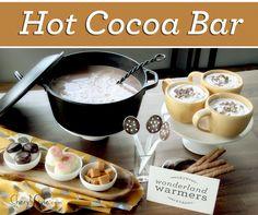 hot chocolate bar on http://www.cherylstyle.com