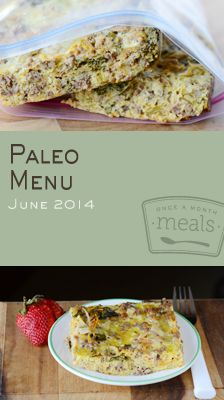 Paleo June 2014 Menu | OAMC from Once A Month Meals | Freezer Meals | Freezer Cooking | Primal Eating | Make ahead paleo meals