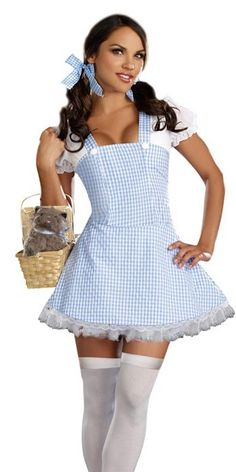 Women's Dorothy Blue Gingham Dress Costume   Wholesale Dorothy Blue Gingham Dress Adult Sexy Costume Halloween Costumes for Dorothy Blue Gin...