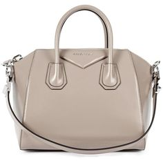 Womens Tote Bags Givenchy Antigona Small Taupe Leather Tote (2 550 AUD) ❤ liked on Polyvore featuring bags, handbags, tote bags, purses, bolsas, givenchy, handbags & purses, purse tote, leather handbags and leather hand bags