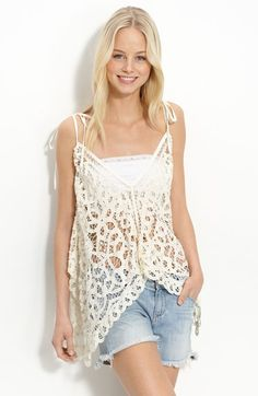 Free shipping and returns on Free People 'Battenburg Lace' Convertible Halter Top at Nordstrom.com. Drawstring straps create versatility in a pretty layering top fashioned from asymmetrical panels of crocheted lace.