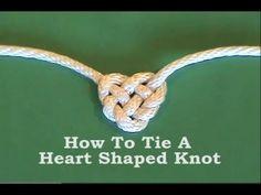 Tie Heart Shaped Knot