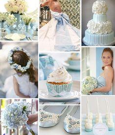 blue wedding theme - wedding decoration details