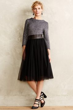Tulle Midi Skirt #anthropologie - would LOVE to own this skirt! I've been looking for a tulle skirt like this FOREVER. MAN I wish i still had my discount from anthro!!