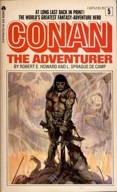 Conan The Adventurer ~ Frank Frazetta cover art Frank Frazetta, Fantasy Book Covers, Fantasy Books, Fantasy Art, Fantasy Landscape, Dark Fantasy, Ace Books, Sci Fi Books, Red Sonja
