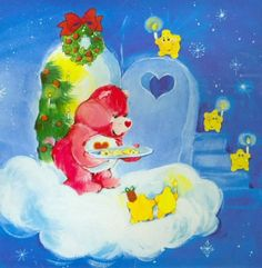 Care Bears: Love-a-Lot Bear Shares Christmas Cookies Care Bears, Best Cartoons Ever, Cute Cartoon Characters, Christmas Post, Bear Art, Little Twin Stars, Cellphone Wallpaper, Cool Websites, Cute Art