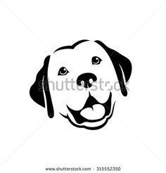 Labrador retriever dog - vector illustration