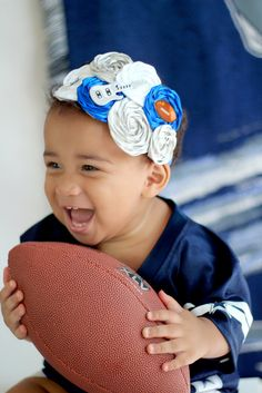 Dallas Cowboys Theme Football Headband Photo Prop on Elastic with Rhinestone. Newborn, Baby, Toddler, Girl, Adult. $9.00, via Etsy.
