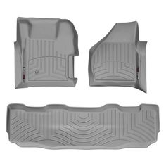 """WeatherTech 461261-460022 Series Grey Front and Rear FloorLiner - FloorLiner(TM) In the quest for the most advanced concept in floor protection, the talented designers and engineers at WeatherTech(R) have worked tirelessly to develop the most advanced floor protection available today! The WeatherTech(R) FloorLiner(TM) accurately and completely lines the interior carpet giving """"absolute interior protection(TM)""""! The WeatherTech(R) FloorLiner(TM) lines the interior carpet up the front, back…"""
