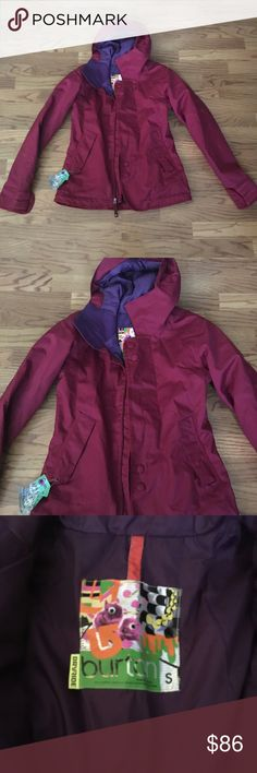Maroon/magenta Burton snowboard/ski jacket Burton dry ride snow jacket Burton Jackets & Coats