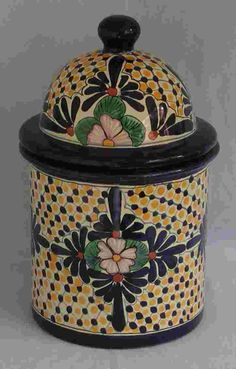 Talavera Canister - Large - Mexican Connexion for Talavera Pottery [ MexicanConnexionforTile.com ] #shop #Talavera #Mexican