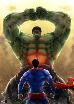 #Hulk #Fan #Art. (Superman vs Hulk) By: Zlirkexct94. ÅWESOMENESS!!!™ ÅÅÅ+