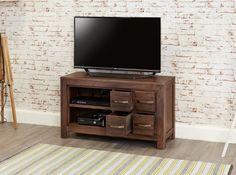 bonsoni mayan walnut four drawer television cabinet part of our baumhaus mayan furniture collection https