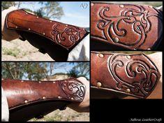 Renaissance Style Bracers - Dark Brown Version by Adhras.deviantart.com