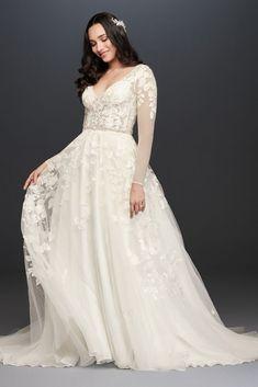 Bridal Mehndi Dresses, Yellow Bridesmaid Dresses, Plus Size Wedding Gowns, Bridal Wedding Dresses, Wedding Dress Styles, Davids Bridal Plus Size, Davids Bridal Gowns, Size 12 Wedding Dress, Ivory Wedding