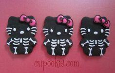 Hello Kitty - skeleton cookies