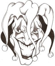 black and white jester