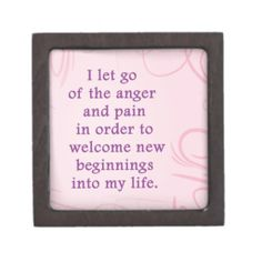 Positive Affirmation Letting Go Of Pain And Anger Premium Trinket Box